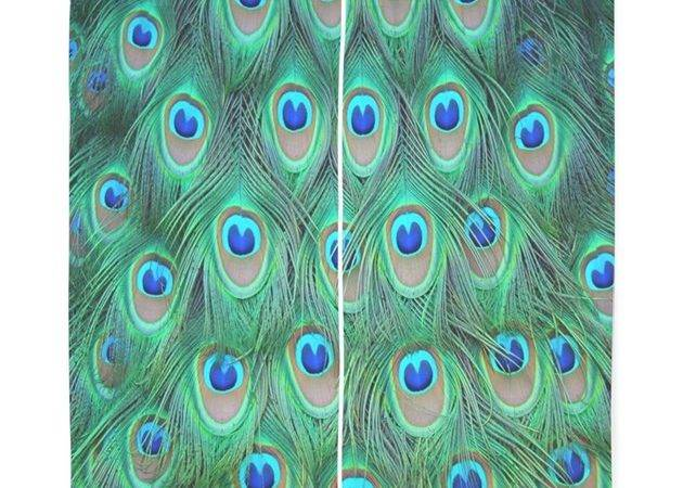 Peacock Feathers Curtains Coolbedding