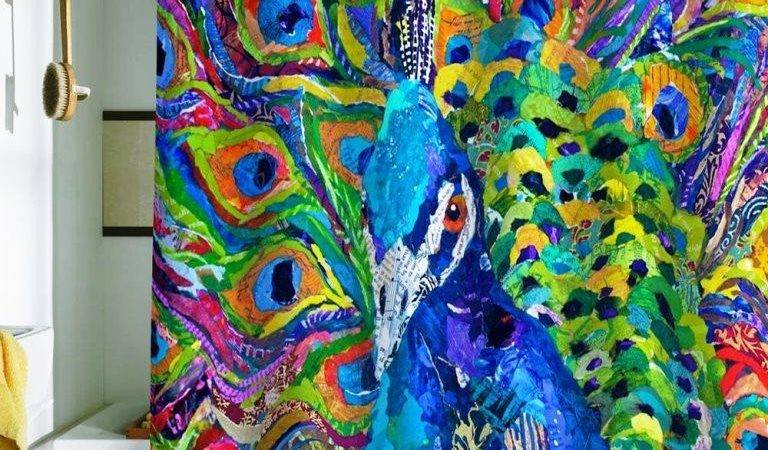 Peacock Shower Curtains Colorful Eccentric