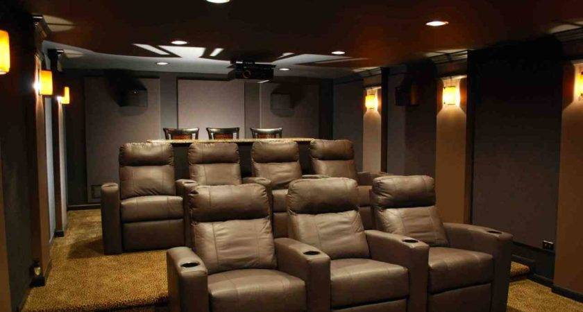 Perfect Decoration Media Room Furniture Exciting Brown
