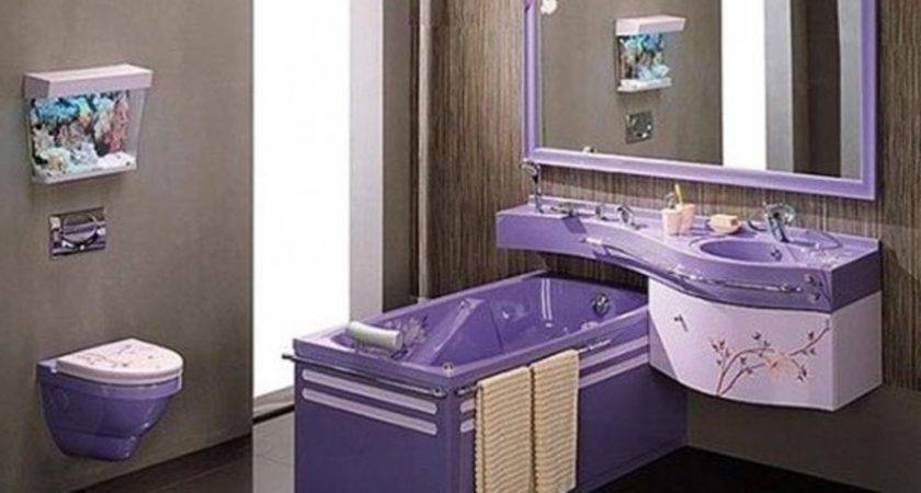 Perfect Grey Purple Bathroom Ideas Home Design