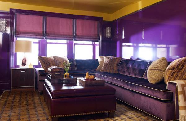 Perfect Purple Gold Living Rooms Home Design Lover