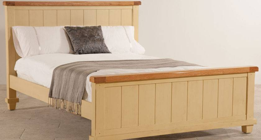 Phoenix Shabby Chic Rustic Oak Painted Double Bed