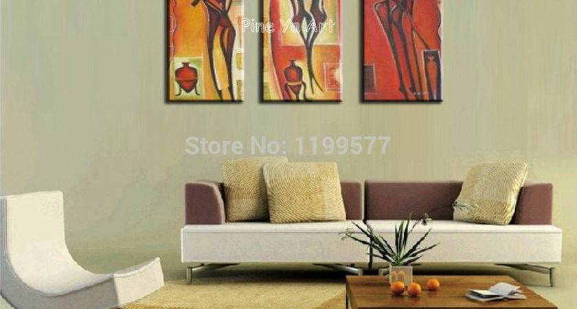 Piece Abstract Modern Sexy Nude Wall Art Handpainted