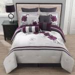 Piece King Poppy Purple Gray Comforter Set Ebay