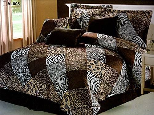 Pieces Multi Animal Print Comforter Set King