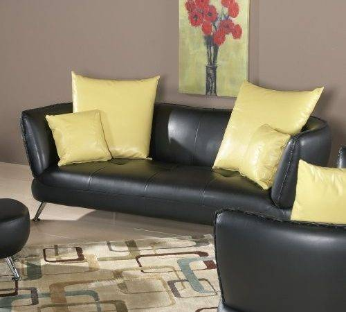 Pillows Leather Sofa Homes Decoration Tips