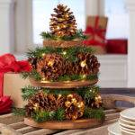 Pine Cone Christmas Tree Centerpiece