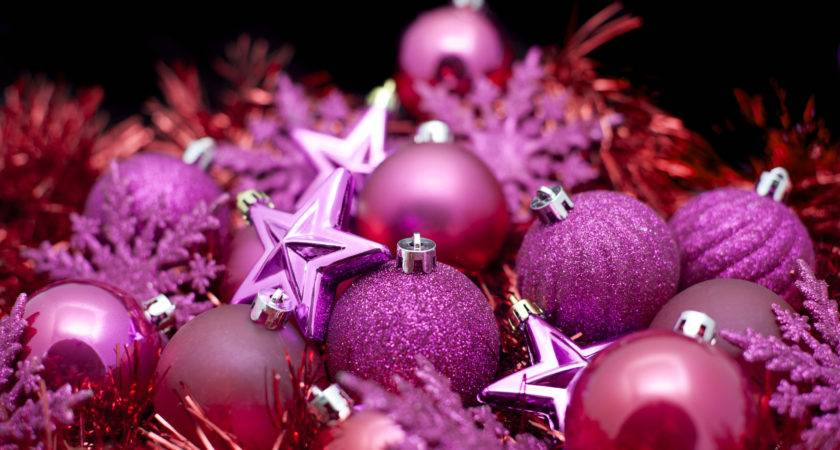 Pink Christmas Decorations Stockarch