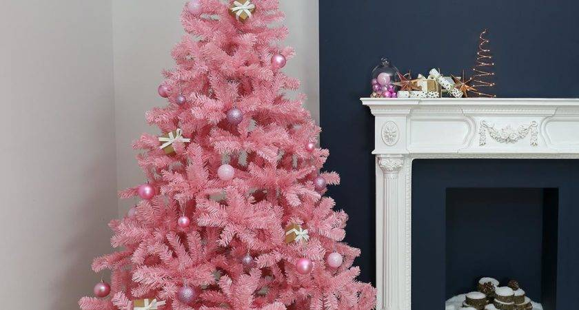Pink Christmas Trees Demand Artificial