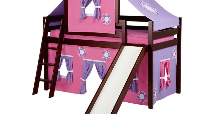 Pink Cottage Cherry Tent Loft Bed Slide Top