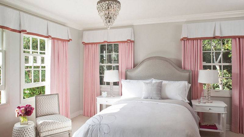Pink Gray Bedroom Design Ideas