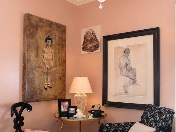 Pink Living Rooms Ideas Not Overbearing Wall