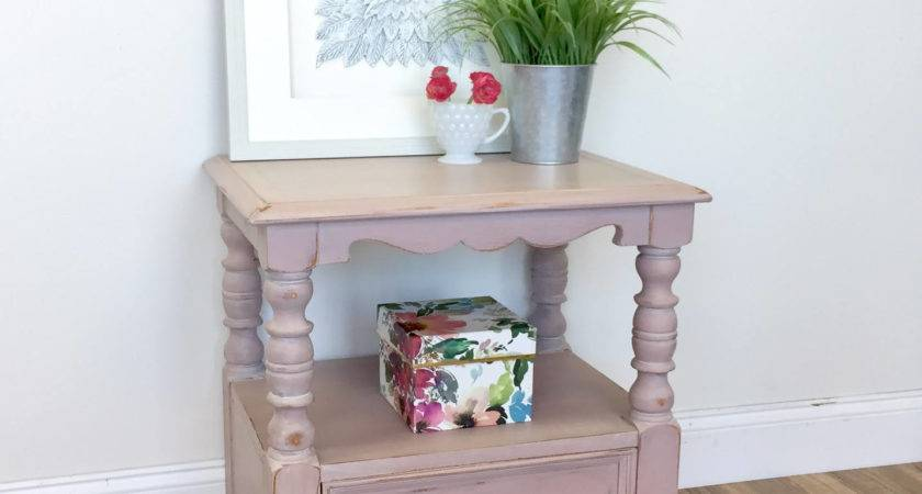 Pink Nightstand Shabby Chic Furniture Vintage Home