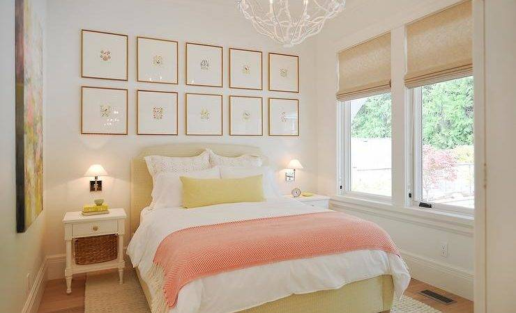 Pink Yellow Bedrooms Cottage Bedroom