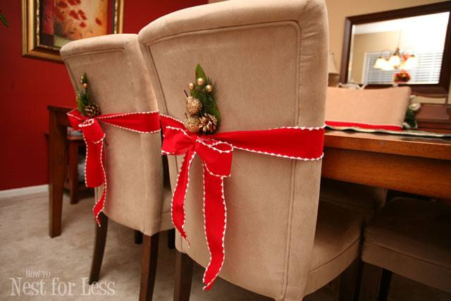 Pinterest Project Parson Chair Covers Christmas