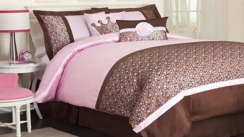 Planning Ideas Elegant Pink Brown Bedroom
