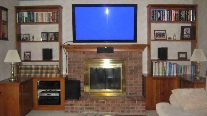Planning Ideas Mounting Over Fireplace Brick