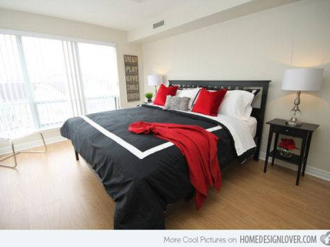 Pleasant Black White Red Bedroom Ideas