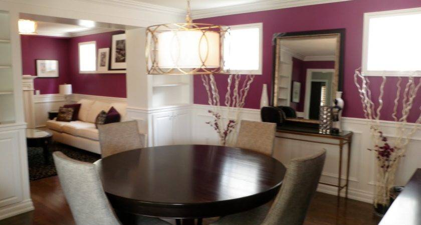Plum Accent Wall Home Inspiration Pinterest