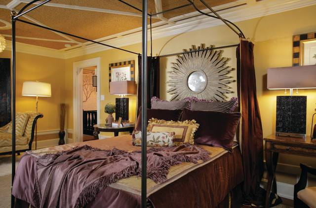 Plum Gold Master Bedroom Traditional New