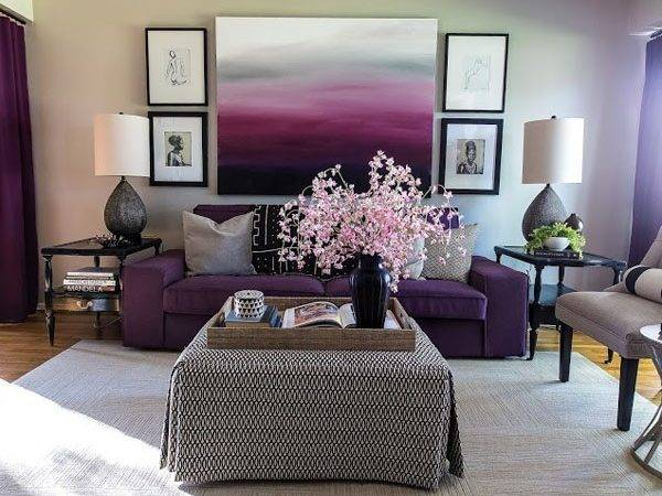 Plum Grey Living Room