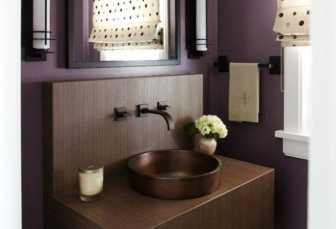 Plum Wall Color Home Office Transitional Console