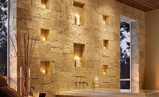 Plushemisphere Stone Wall Decoration Ideas