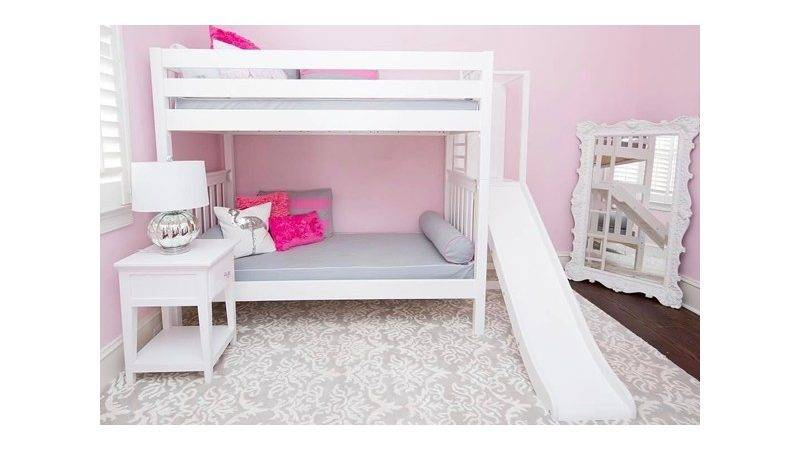 Poof Twin Maxtrix Bunk Bed Ladder Slide