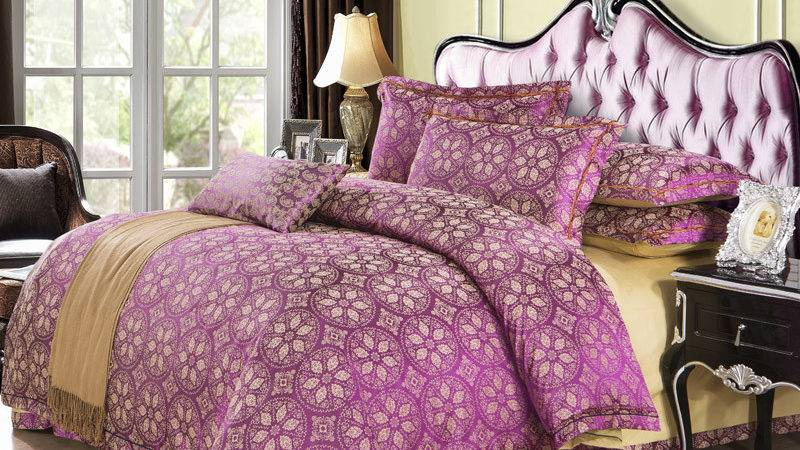 Popular Purple Silver Bedding Buy Cheap