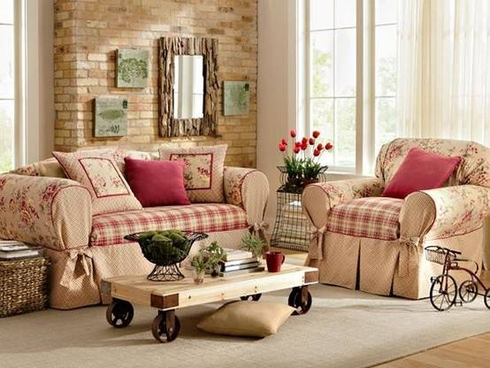 Potpourri Cottage Style Living Rooms