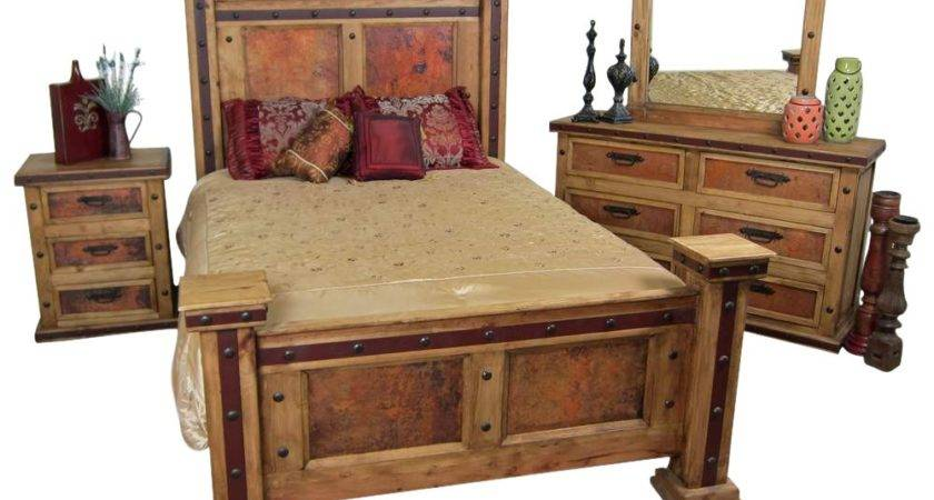 Pounded Copper Rustic Bedroom Set Mexican
