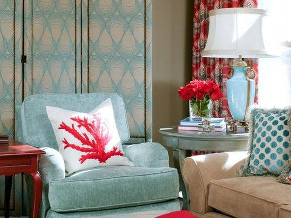 Powder Blue Poppy Red Rooms Ideas Inspiration