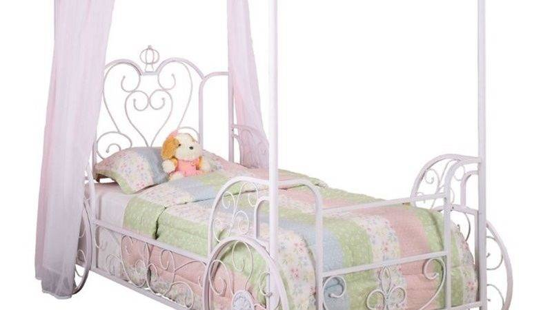 Powell Furniture Princess Emily Carriage Twin Metal Canopy