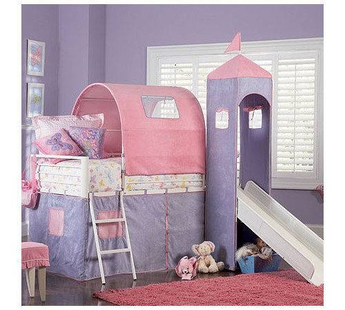 Powell Furniture Princess Twin Castle Loft Bed Slide