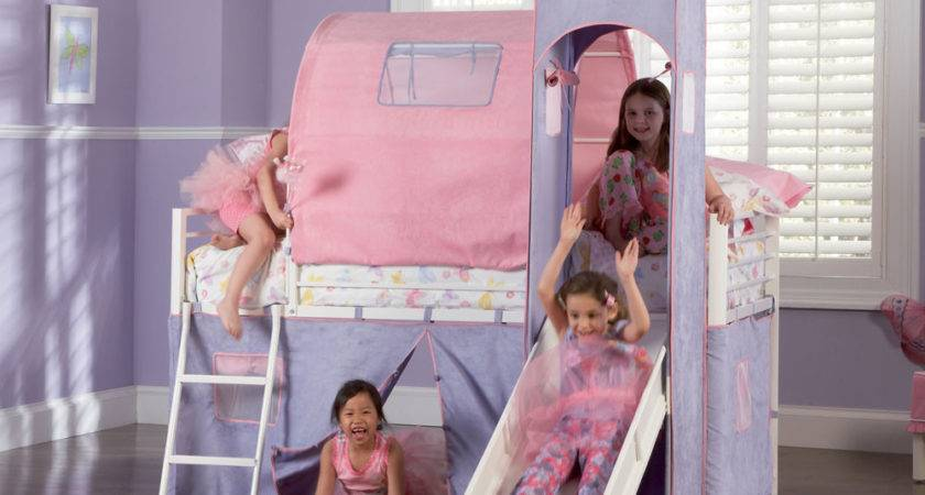 Powell Princess Castle Twin Tent Bunk Bed Slide