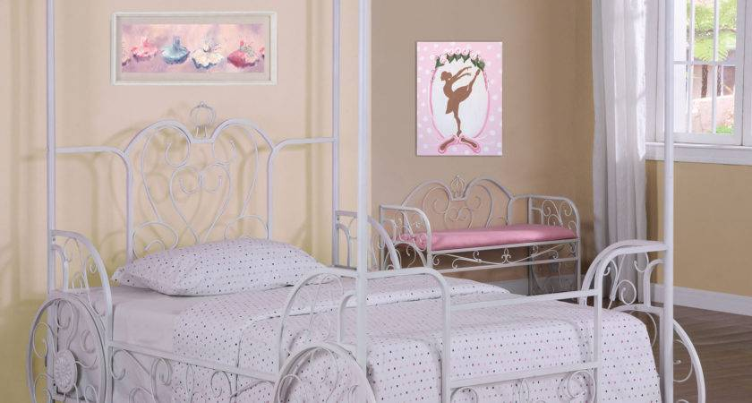 Powell Princess Emily Carriage Canopy Bed