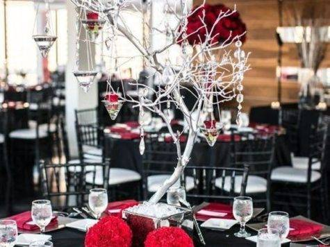 Powerful Red Black Wedding Cor Ideas