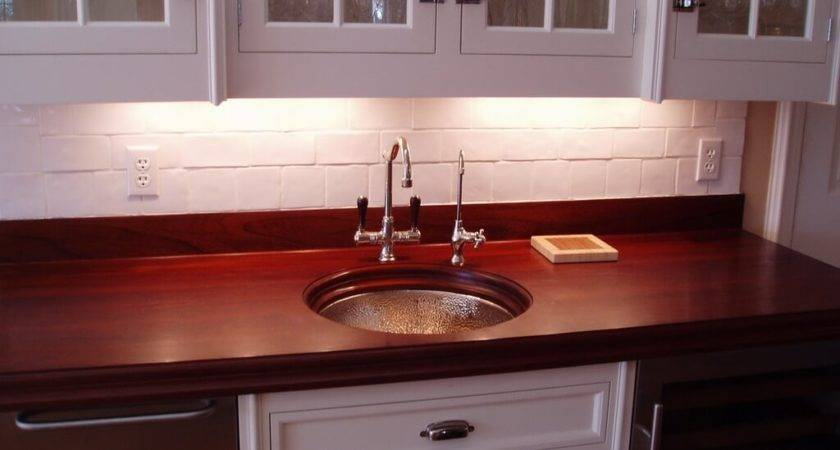 Premium Wide Plank Wood Countertops Brooks Custom