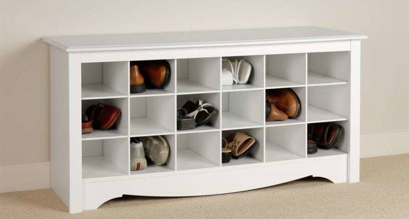 Prepac White Shoe Storage Cubbie Bench Wss Ebay