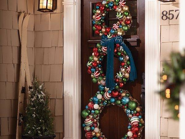 Pretty Christmas Door Decorations Home Design Garden