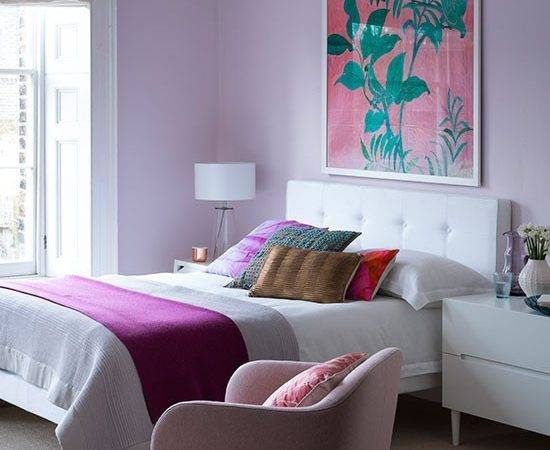 Pretty Lilac Bedroom White Furniture