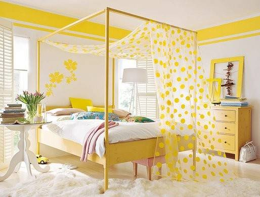 Pretty Things Design Happy Yellow Bedroom