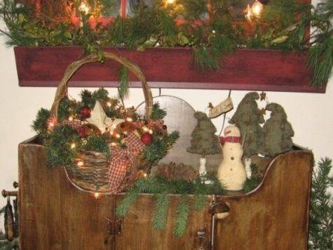 Primitive Country Christmas Decorations Ideas