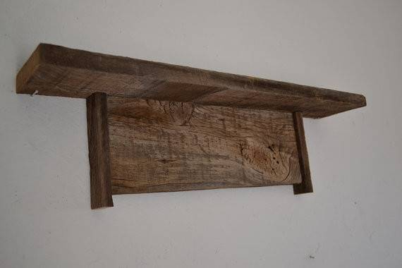 Primitive Wood Wall Shelf Barnwood Beautiful