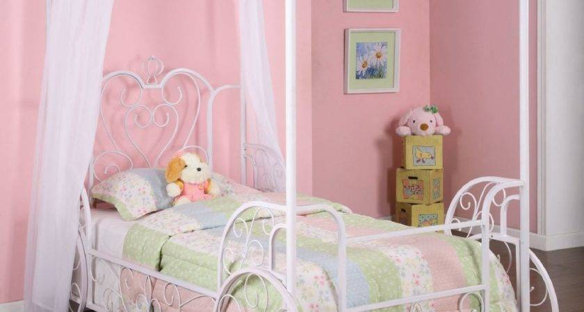 Princess Emily Carriage Canopy Twin Bed Powell
