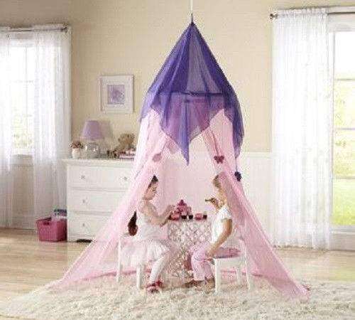 Princess Pink Canopy Girls Play Set Hang Bedroom Bed Tent