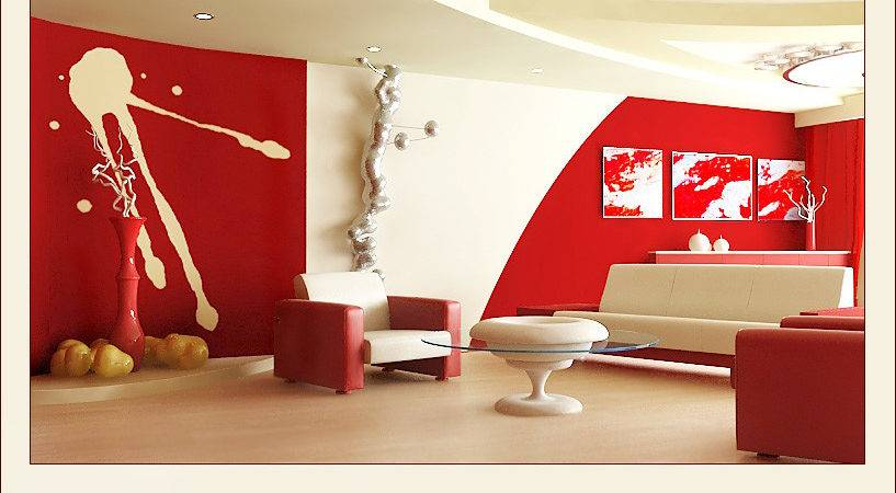 Promoteinterior Red White Living Rooms
