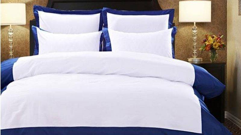 Pure Color Hotel Comforter Duvet Cover Queen King