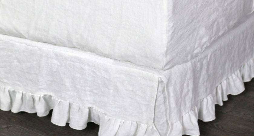 Pure Linen Fitted Sheet Optic White Pre Washed