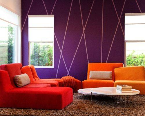 Purple Accent Wall Houzz
